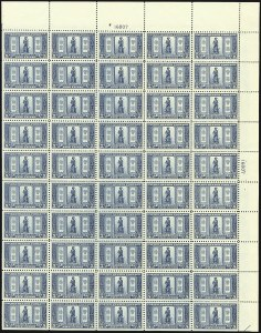 Sale Number 1107, Lot Number 777, Complete Sheets and Panes, Cont.1c-5c Lexington-Concord (617-619), 1c-5c Lexington-Concord (617-619)