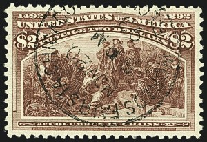 Sale Number 1108, Lot Number 117, 1893 Columbian Issue (Scott 237-245)$2.00 Columbian (242), $2.00 Columbian (242)