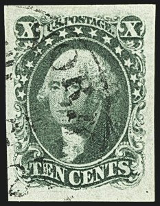 Sale Number 1108, Lot Number 12, 1851-56 Issue (Scott 6-17)10c Green, Ty. I (13), 10c Green, Ty. I (13)