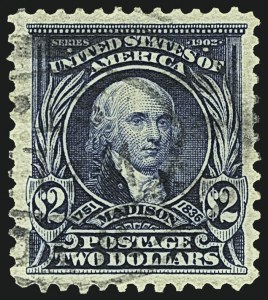 Sale Number 1108, Lot Number 140, 1902-08 Issues (Scott 311-315)$2.00 Dark Blue (312), $2.00 Dark Blue (312)