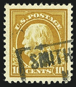 Sale Number 1108, Lot Number 180, 1912-22 Issues, Cont. (Scott 491-544)10c Orange Yellow (510), 10c Orange Yellow (510)