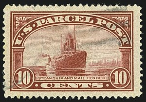 Sale Number 1108, Lot Number 195, Back-of-the -Book Issues10c Parcel Post (Q6), 10c Parcel Post (Q6)
