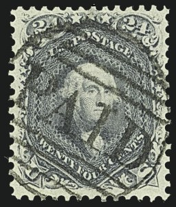 Sale Number 1108, Lot Number 48, 1861-66 Issue (Scott 63-78a)24c Steel Blue (70b), 24c Steel Blue (70b)