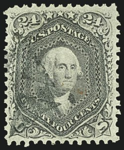 Sale Number 1108, Lot Number 56, 1861-66 Issue (Scott 63-78a)24c Grayish Lilac (78a), 24c Grayish Lilac (78a)