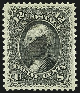 Sale Number 1108, Lot Number 67, 1867-68 Grilled Issue (Scott 83-101)12c Black, E. Grill (90), 12c Black, E. Grill (90)