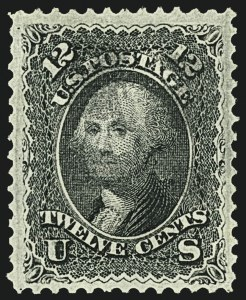 Sale Number 1108, Lot Number 73, 1867-68 Grilled Issue (Scott 83-101)12c Black, F. Grill (97), 12c Black, F. Grill (97)