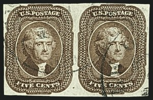 Sale Number 1109, Lot Number 422, 5c-10c 1851-56 Issue, Off-Cover (Scott 12-16)5c Red Brown (12), 5c Red Brown (12)