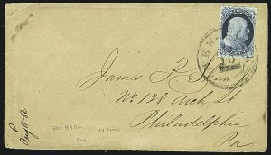 Sale Number 1109, Lot Number 443, 1c 1851-56 Issue, On-Cover (Scott 7-9)1c Blue, Ty. II (7), 1c Blue, Ty. II (7)