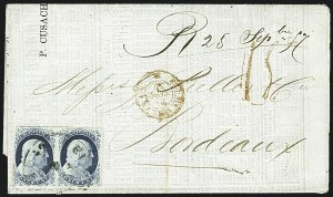 Sale Number 1109, Lot Number 450, 1c 1851-56 Issue, On-Cover (Scott 7-9)1c Blue, Ty. IV (9), 1c Blue, Ty. IV (9)