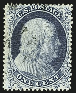 Sale Number 1109, Lot Number 483, 1c-5c 1857-60 Issue, Off-Cover (Scott 19-30A)1c Blue, Ty. Ia (19), 1c Blue, Ty. Ia (19)