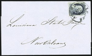Sale Number 1109, Lot Number 515, 1c-3c 1857-60 Issue, On-Cover (Scott 18-26)1c Blue, Ty. II (20), 1c Blue, Ty. II (20)