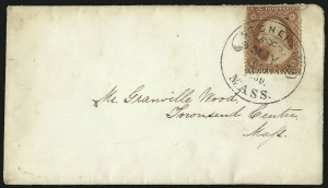 Sale Number 1109, Lot Number 529, 1c-3c 1857-60 Issue, On-Cover (Scott 18-26)3c Dull Red, Ty. III (26), 3c Dull Red, Ty. III (26)