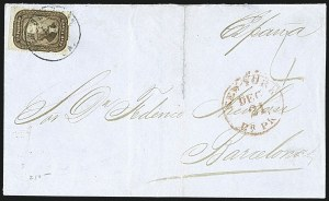 Sale Number 1109, Lot Number 535, 5c-30c 1857-60 Issue, On-Cover (Scott 27-38)5c Brown (29), 5c Brown (29)