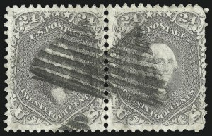 Sale Number 1109, Lot Number 584, 1861-66 Issue, Off-Cover, Cont. (Scott 69-78c)24c 1861 Issue, Balance (70/78), 24c 1861 Issue, Balance (70/78)