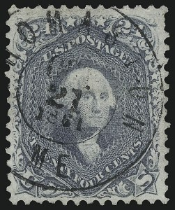 Sale Number 1109, Lot Number 586, 1861-66 Issue, Off-Cover, Cont. (Scott 69-78c)24c Steel Blue (70b), 24c Steel Blue (70b)