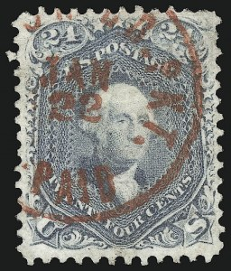 Sale Number 1109, Lot Number 588, 1861-66 Issue, Off-Cover, Cont. (Scott 69-78c)24c Steel Blue (70b), 24c Steel Blue (70b)