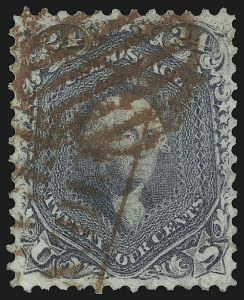Sale Number 1109, Lot Number 589, 1861-66 Issue, Off-Cover, Cont. (Scott 69-78c)24c Steel Blue (70b), 24c Steel Blue (70b)