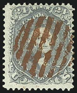 Sale Number 1109, Lot Number 590, 1861-66 Issue, Off-Cover, Cont. (Scott 69-78c)24c Steel Blue (70b), 24c Steel Blue (70b)
