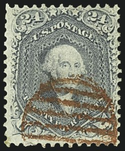 Sale Number 1109, Lot Number 591, 1861-66 Issue, Off-Cover, Cont. (Scott 69-78c)24c Steel Blue (70b), 24c Steel Blue (70b)