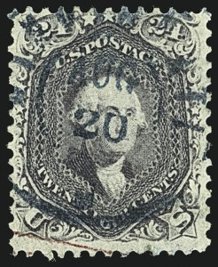 Sale Number 1109, Lot Number 592, 1861-66 Issue, Off-Cover, Cont. (Scott 69-78c)24c Violet, Thin Paper (70c), 24c Violet, Thin Paper (70c)
