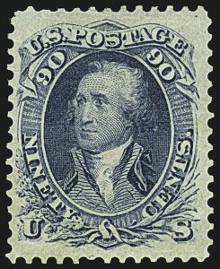 Sale Number 1109, Lot Number 602, 1861-66 Issue, Off-Cover, Cont. (Scott 69-78c)90c Blue (72), 90c Blue (72)