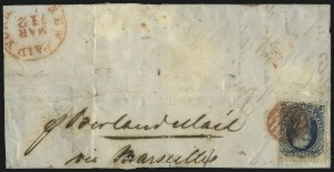 Sale Number 1109, Lot Number 603, 1861-66 Issue, Off-Cover, Cont. (Scott 69-78c)90c Blue (72), 90c Blue (72)