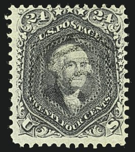 Sale Number 1109, Lot Number 607, 1861-66 Issue, Off-Cover, Cont. (Scott 69-78c)24c Blackish Violet (78c), 24c Blackish Violet (78c)