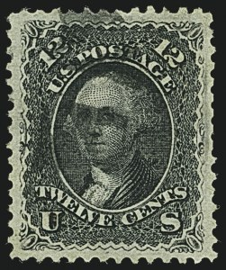Sale Number 1109, Lot Number 659, 1867-68 Grilled Issue, Off-Cover (Scott 79-101)12c Black, F. Grill (97), 12c Black, F. Grill (97)