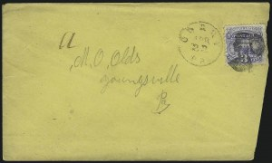 Sale Number 1109, Lot Number 690, 1869 Pictorial Issue, On-Cover (Scott 112-119)3c Ultramarine (114), 3c Ultramarine (114)