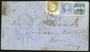 Sale Number 1109, Lot Number 693, 1869 Pictorial Issue, On-Cover (Scott 112-119)12c Green (117), 12c Green (117)