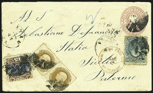 Sale Number 1109, Lot Number 695, 1869 Pictorial Issue, On-Cover (Scott 112-119)15c Brown & Blue, Ty. II (119), 15c Brown & Blue, Ty. II (119)