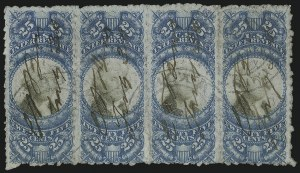 Sale Number 1110, Lot Number 1263, Second Issue Revenues25c Blue & Black, Second Issue, Sewing Machine Perforations (R112b), 25c Blue & Black, Second Issue, Sewing Machine Perforations (R112b)