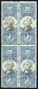 Sale Number 1110, Lot Number 1270, Second Issue Revenues$10.00 Blue & Black, Second Issue (R128), $10.00 Blue & Black, Second Issue (R128)