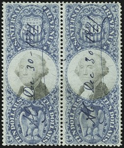 Sale Number 1110, Lot Number 1271, Second Issue Revenues$10.00 Blue & Black, Second Issue (R128), $10.00 Blue & Black, Second Issue (R128)