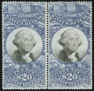 Sale Number 1110, Lot Number 1273, Second Issue Revenues$20.00 Blue & Black, Second Issue (R129), $20.00 Blue & Black, Second Issue (R129)