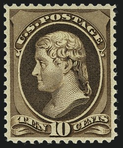 Sale Number 1111, Lot Number 100, 1870-88 Bank Note Co. Issues (Scott 134-218)10c Brown (209), 10c Brown (209)