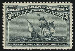 Sale Number 1111, Lot Number 126, 1893 Columbian Issue (Scott 230-245)3c Columbian (232), 3c Columbian (232)