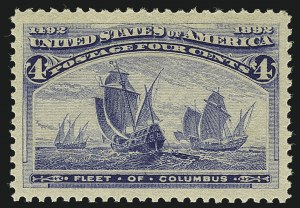 Sale Number 1111, Lot Number 128, 1893 Columbian Issue (Scott 230-245)4c Columbian (233), 4c Columbian (233)
