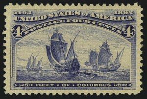 Sale Number 1111, Lot Number 129, 1893 Columbian Issue (Scott 230-245)4c Columbian (233), 4c Columbian (233)