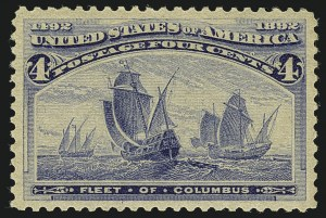 Sale Number 1111, Lot Number 130, 1893 Columbian Issue (Scott 230-245)4c Columbian (233), 4c Columbian (233)