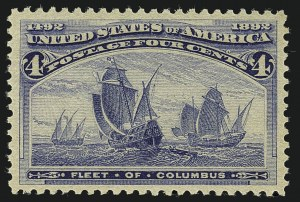 Sale Number 1111, Lot Number 131, 1893 Columbian Issue (Scott 230-245)4c Columbian (233), 4c Columbian (233)