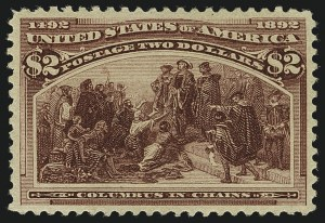 Sale Number 1111, Lot Number 146, 1893 Columbian Issue (Scott 230-245)$2.00 Columbian (242), $2.00 Columbian (242)