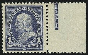 Sale Number 1111, Lot Number 161, 1894 Unwatermarked Bureau Issue (Scott 246-263)1c Blue (247), 1c Blue (247)