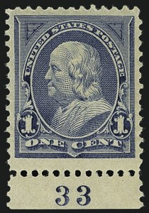 Sale Number 1111, Lot Number 162, 1894 Unwatermarked Bureau Issue (Scott 246-263)1c Blue (247), 1c Blue (247)