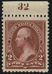 Sale Number 1111, Lot Number 165, 1894 Unwatermarked Bureau Issue (Scott 246-263)2c Carmine Lake, Ty. I (249), 2c Carmine Lake, Ty. I (249)