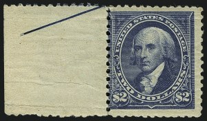 Sale Number 1111, Lot Number 178, 1894 Unwatermarked Bureau Issue (Scott 246-263)$1.00 Black, Ty. II, $2.00 Bright Blue (261A, 262), $1.00 Black, Ty. II, $2.00 Bright Blue (261A, 262)