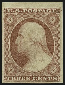 Sale Number 1111, Lot Number 18, 1851-56 Issue (Scott 5-17)3c Dull Red, Ty. I (11), 3c Dull Red, Ty. I (11)