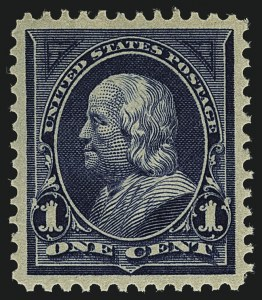 Sale Number 1111, Lot Number 183, 1895-1903 Watermarked Bureau Issues (Scott 264-284)1c Blue (264), 1c Blue (264)