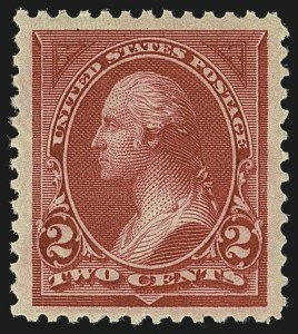 Sale Number 1111, Lot Number 184, 1895-1903 Watermarked Bureau Issues (Scott 264-284)2c Carmine, Ty. I (265), 2c Carmine, Ty. I (265)