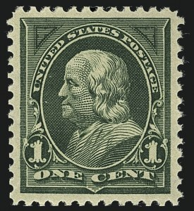 Sale Number 1111, Lot Number 198, 1895-1903 Watermarked Bureau Issues (Scott 264-284)1c Deep Green (279), 1c Deep Green (279)